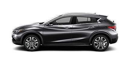 Photo of INFINITI QX30 LUXE AWD crossover model.